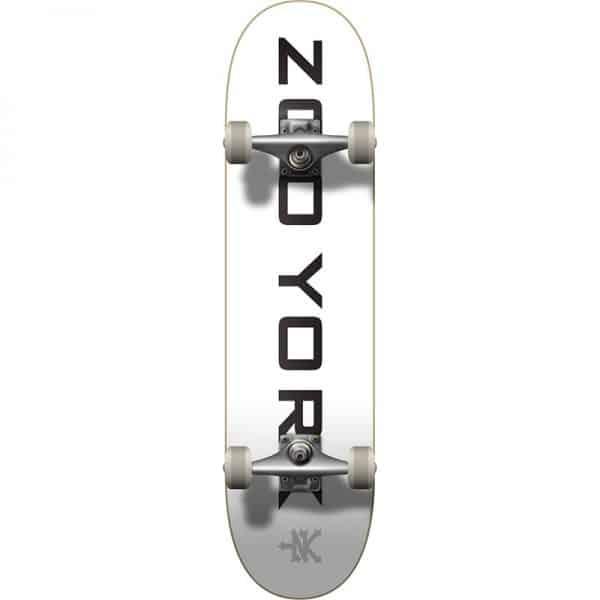 Skateboard zoo york logo blanco 2
