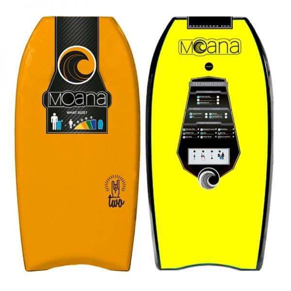 Body board Moana One yellow orange